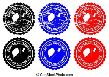 Sao Tome and Principe - rubber stamp - vector, Sao Tome and...