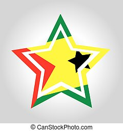 Sao-Tome-and-Principe Star Flag - an abstract illustration...