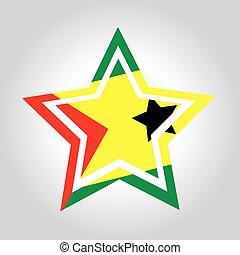 Sao-Tome-and-Principe Star Flag - an abstract illustration...