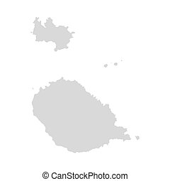 Sao Tome And Principe vector map isolated travel illustration.