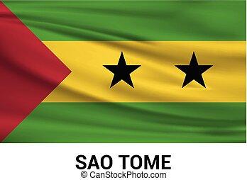 Sao Tome flags design vector