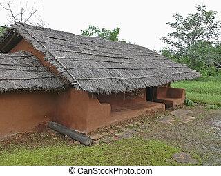 Saoras tribals house, Orissa, Andhra pradesh, India