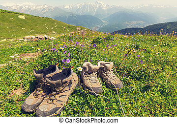 sapatos, hiking