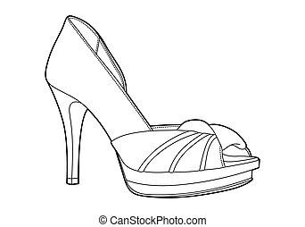 sapatos, mulheres