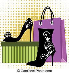 sapatos, shopping