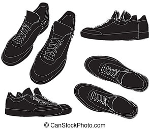sapatos, treinadores, esportes