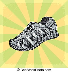 sapatos treino, fundo