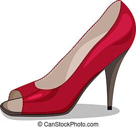 sapatos, vermelho
