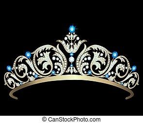 saphire, diamant, tiara
