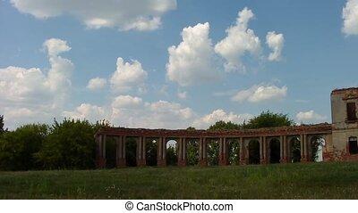sapieha, palast, (ruins)., der, zerstören