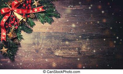 sapin, décoration, arbre, noël, fond