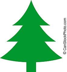 sapin, vecteur, arbre, icône