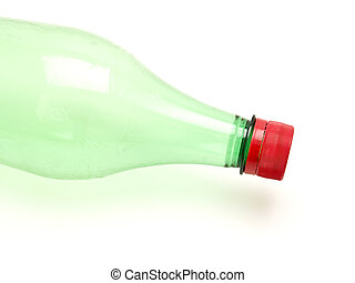 sapka, zöld piros, palack, műanyag