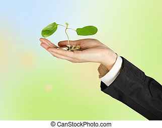 sapling, hand