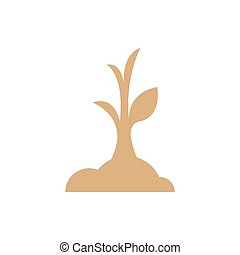 sapling icon brown color