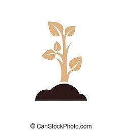 sapling icon design brown color