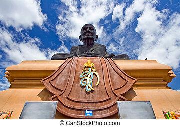 sapo, luang, buddha, estátua, pu