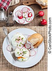 saporito, breakfast.