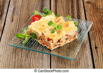 saporito, lasagna