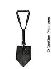 Sapper shovel isolated