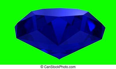 Sapphire blue diamond gemstone gem stone spinning wedding...