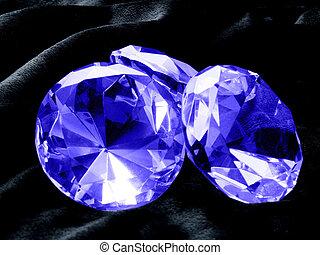 Sapphire Jewel - A close up on a Sapphire jewel on a dark...