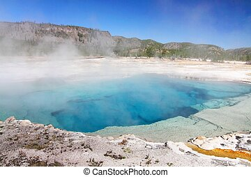Sapphire Pool In Yellowstone National Park in Wyoming