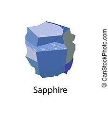 Sapphire Precious Gemstone Mineral Corundum Vector