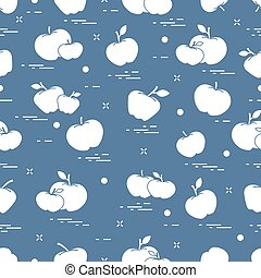 sappig, fruit., pattern., seamless, appeltjes