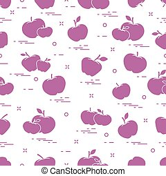 sappig, fruit., pattern., seamless, appeltjes