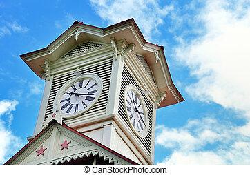 Sapporo clock tower. - Sapporo city clock tower, in Hokkaido...