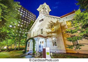 Sapporo Clock Tower - Sapporo, Japan at the Sapporo Clock ...
