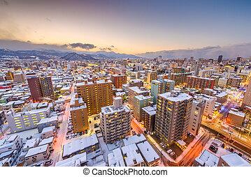 Sapporo, Japan Winter Skyline - Sapporo, Japan winter ...