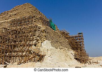 saqqara, ピラミッド, 足場