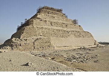 saqqara, ピラミッド, djoser