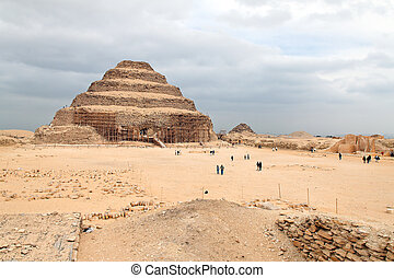 saqqara, paso, pirámide, egipto