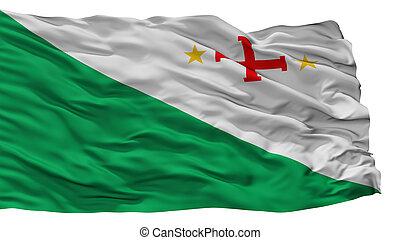 Sara Province City Flag, Bolivia, Isolated On White ...
