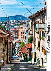 Old street of Sarajevo, Bosnia and Herzegovina