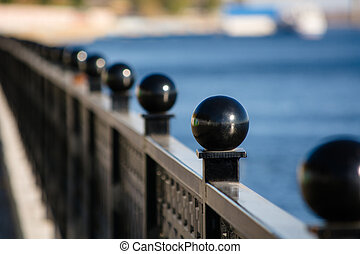 Saratov Quay on a sunny day