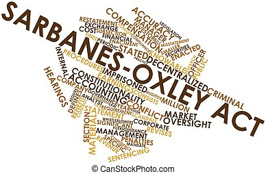 Sarbanes-Oxley Act - Abstract word cloud for Sarbanes-Oxley...