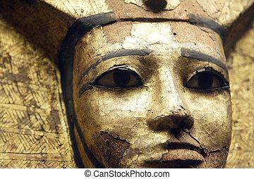 sarcophagus close up