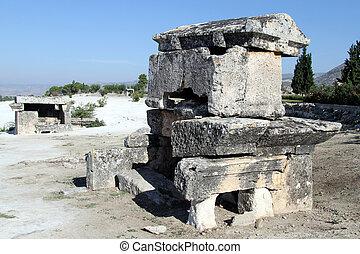 sarcophaguses, pamukkale