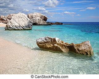 sardegna, spiaggia, roccioso