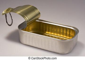 sardine, ouvert, boîte