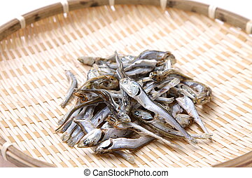 sardine, séché