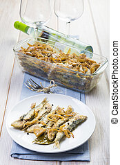 Sardines in marinade Spanish style a way to preserve fish