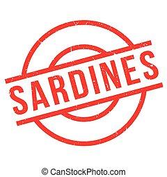 Sardines rubber stamp