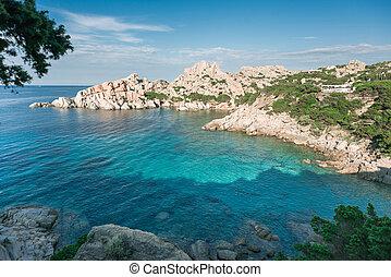 Sardinia. Capo Testa. Italy. Top View to Sea.