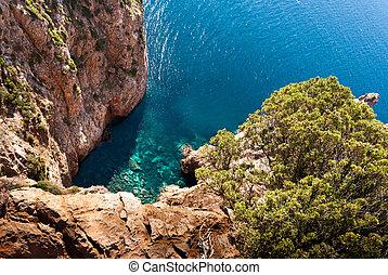 landscape of coast of south Sardegna, Italy