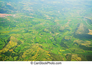 Sardinia countyside seen from above